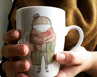 cosy girl Coffee / Tea  Mug