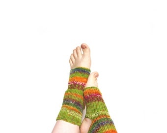 Wholesale a lot of 10 hand knit yoga socks, pilates socks, dance socks