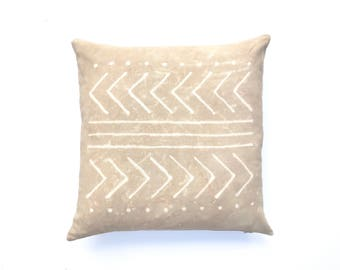 Tan Pillow Neutral Pillow Boho Nursery Tribal Nursery Tribal Pattern Boho Pillow Cover 20 x 20 Beige Pillow Tribal Pillow Arrow Pillow
