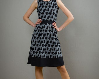 "Sleeveless Summerdress ""Lotta"", in black and silver"