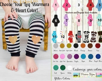 Baby Leg Warmers Girl, Baby Girl Clothing, Newborn or Toddler Leg Warmers, Baby Leggings LegWarmers Socks Hearts - Customize Your Own