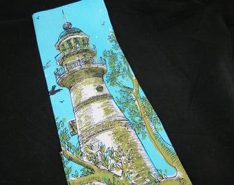 Key West Hand Print Fabrics - Suzie Zuzek dePoo - Key West Light House - Key West Souvenir Tea Towel - Free Shipping - 5PTT17