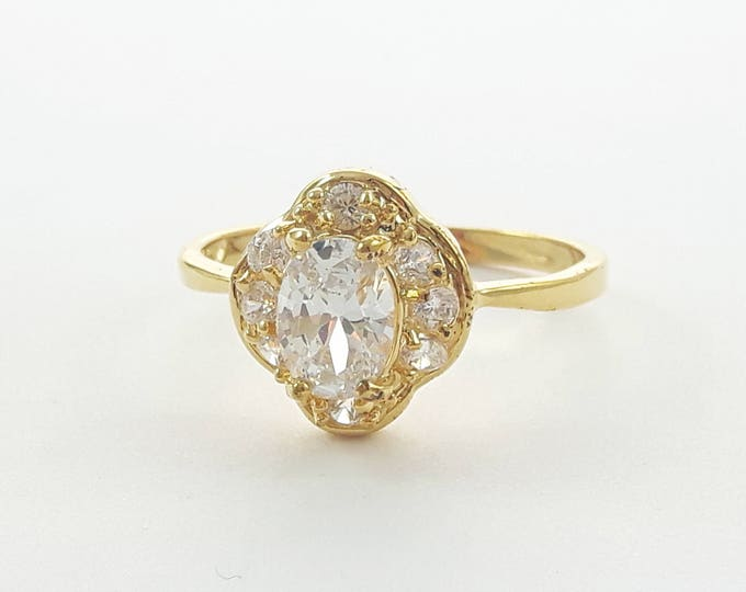 Featured listing image: 14K Gold Filled Nouveau Cocktail Ring