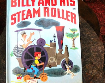 Vintage Billy and His Steam Roller Book by Inez Bertail - 1951 - from DustyMillerAntiques