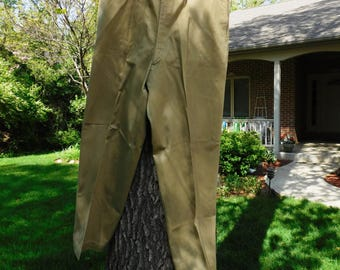 Vintage US Army WWII Khaki Pants - 1940's - from DustyMillerAntiques