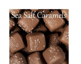 Chocolate Seasalt Caramels, Milk or Dark Chocolate