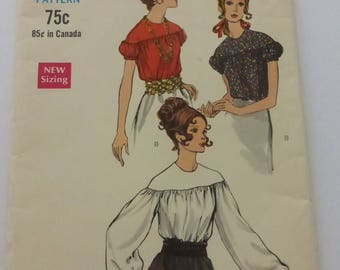 Vintage Vogue Pattern 7538 Misses Blouse Size 12