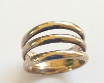 Vintage Ring Sterling Silver Band Size 6