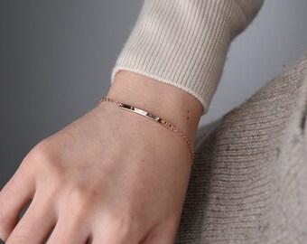 bridesmaid gift, Personalized bar bracelet, Bar bracelet, name bracelet, rose gold bar bracelet, Custom Name Bracelet