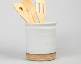 Utensil Jar: Hand thrown, handmade by Hanselmann Pottery