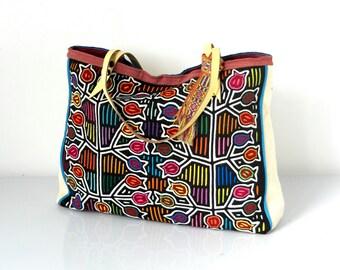 mola bag, ethnic bag, tribal bag, handmade tote, boho chic bag, boho bag for women, mola, gypsy bag, tribal bag, boho soul, hippie style