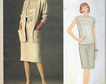 "Vintage 1980's Vogue 1147 American Designer Anne Klein Jacket, Skirt & Top Sewing Pattern Size 10 Bust 32 1/2"" UNCUT"