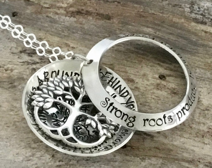 Grandmother Family Tree Necklace| Gift for Mother| Necklace for Mom| Personalized Jewelry for Her| Tree of Life| Gift for Grandmother