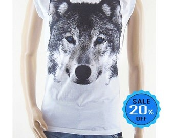 size M - Wolf Fox Blue Eye shirt instagram t shirt funny quote shirt graphic tee tumblr workout tee cool tee shirt trending now unisex