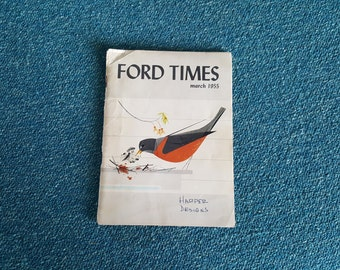 Ford Times March 1955 Charley Harper Cover