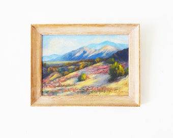 Vintage Framed Landscape Oil Painting
