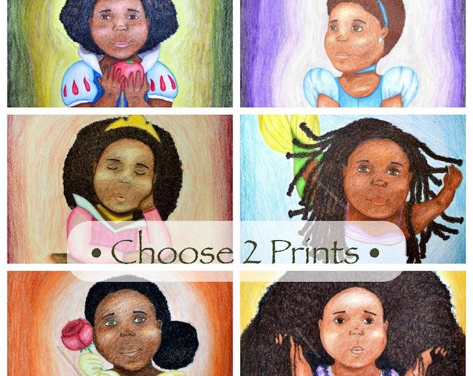 Black Disney Princesses • Choose Two 11x14 Prints