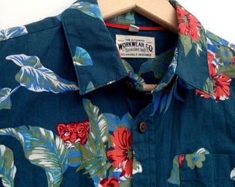 Vintage rad Hawaiian Shirt child 8 - 9 years Workwear Co