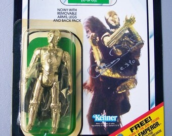 Vintage Star Wars C-3PO MOC C85 New in Packaging 1983 Signed by Anthony Daniels