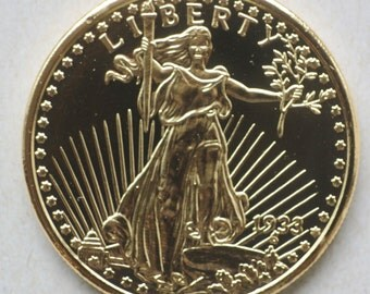 US Liberty Souvenir Coin Replica American Double Eagle, Replica Coin, Great for Kids, Craft or Jewelry making,