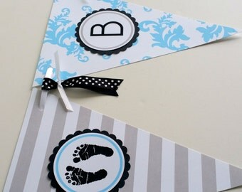 Baby Boy Shower Decoration Gender Reveal Baby Shower Banner It's A Boy Party Banner Baby Boy Nursery Decor Baby Shower Garland Pennants