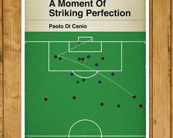 Football Print - Classic Book Cover Poster - Paolo Di Canio volley for West Ham v Wimbledon (UK and US sizes available)