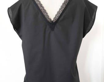 Nati black blouse