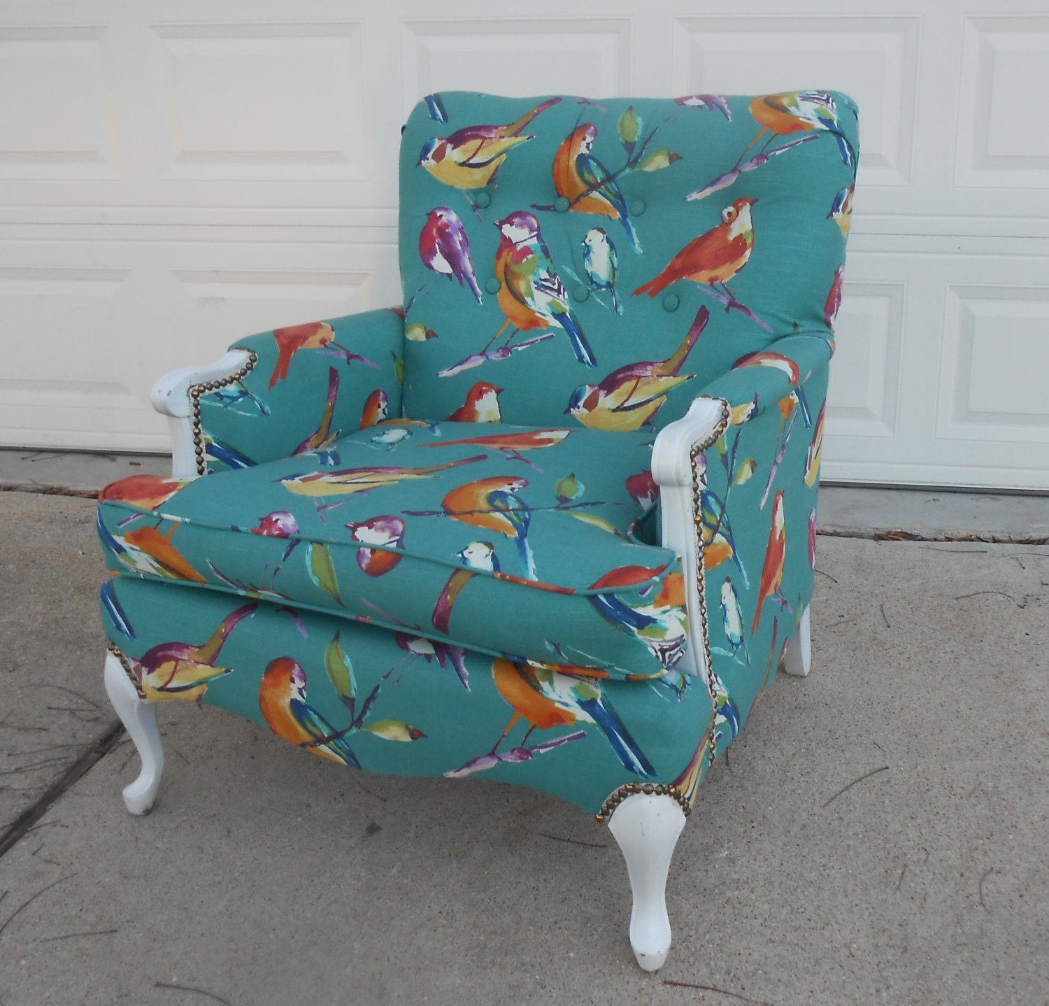 Vintage Mid Century Tufted Lounge Chair 1950s Living Room New