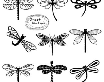 Dragonfly clipart | Etsy