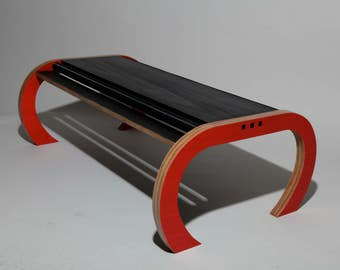 Vacuum Coffee table (red and black) - Striking contemporary coffee table