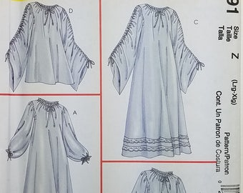 Misses' Chemise in Two Lengths Costume Pattern. Uncut. Size Z LRG-XLRG. McCall's 4091.
