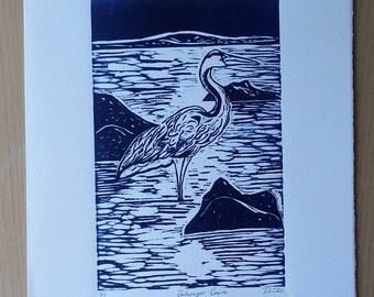 Galapagos Crane Print