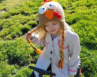 Crochet Turkey Earflap Hat