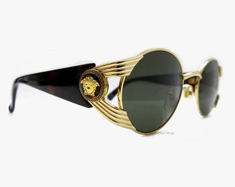 Reserved ! Vintage Gianni Versace S65 Sunglasses Made in Italy | 80s Fashion Accessoires | Ochiali da sole Vintage