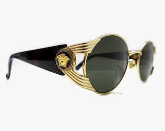 Vintage Gianni Versace S65 Sunglasses Made in Italy | 80s Fashion Accessoires | Ochiali da sole Vintage