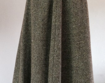 Handmade Wool Tweed Skirt