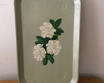 Retro Mint Trays with Flowers - Set of 4