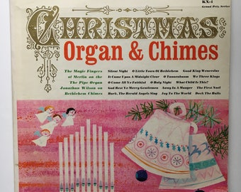 The Magic Fingers Of Merlin, Jonathan Wilson – Christmas Organ & Chimes 1962 ( LP, Album, Vinyl Record ) Christmas, Holiday Music