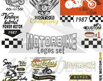 Motorcycle logo silhouette, Harley Davidson, clipart, png, vector, PDF, JPG, SVG, Motorcycle design, T-shirt design motoclub, moto club