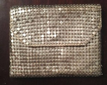 Silver Sequin Chain Vintage Coin or Jewelry Purse