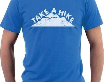 Take a Hike - Mountain / Hiking / Camping - Men's Short Sleeve T-Shirt