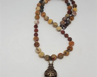 Bohochic Jasper Necklace - Bohochic Necklace - Jasper Necklace