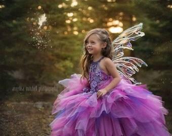 Couture Fuchsia Fairy Gown - Rosetta