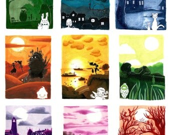 "Studio Ghibli Prints 8"" x 10"""