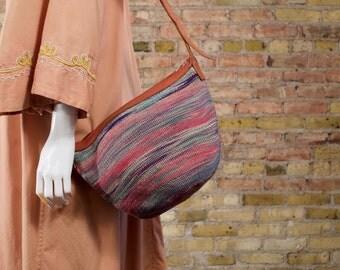 honiara 90s woven purse / straw purse / southwestern purse / pastel woven purse / woven crossbody / crossbody / boho / festival purse