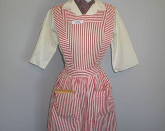 VTG 1940-1950s Candy Striper Dress Uniform-Pinafore-Shirt-Hat-Book-Name Tag-Provenance