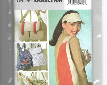 B4147 Butterick Adjustable Visor, Backpacks, and Bags Sewing Pattern 2004 Read Condition