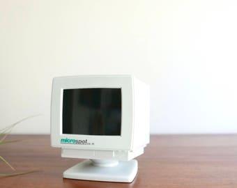 "Floppy disk holder ""computer"", 1990s / vintage nineties MicroSpot diskette storage office desk box"