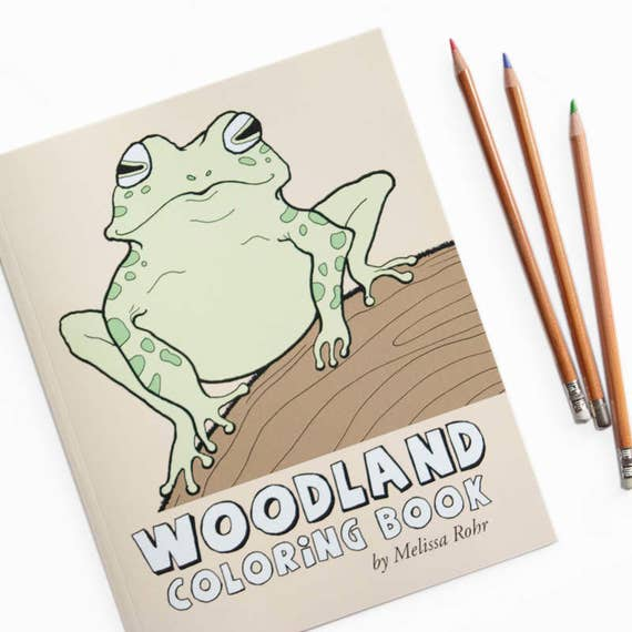 Woodland Coloring Book Forest Animals