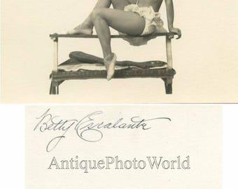 Betty Escalante circus acrobat antique photo